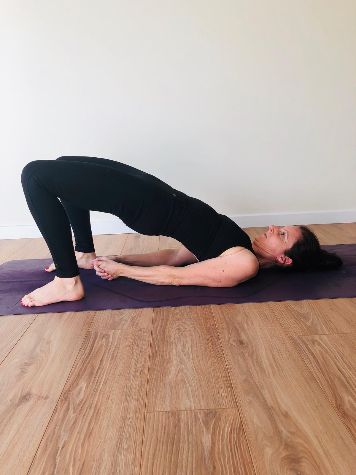 ensemble de yoga noir