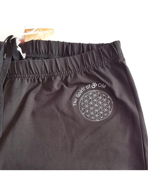 """Pantalon de yoga coton bio """"fleur de vie"""""""
