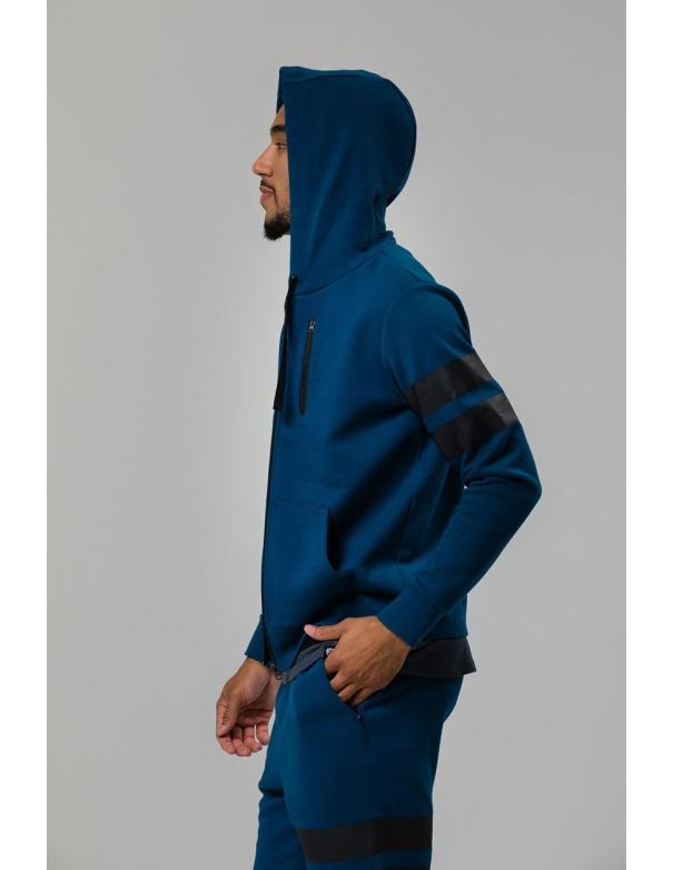 Veste à capuche bleue Homme Onzie