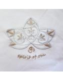 Pantalon de yoga blanc en coton bio avec sur-jupe
