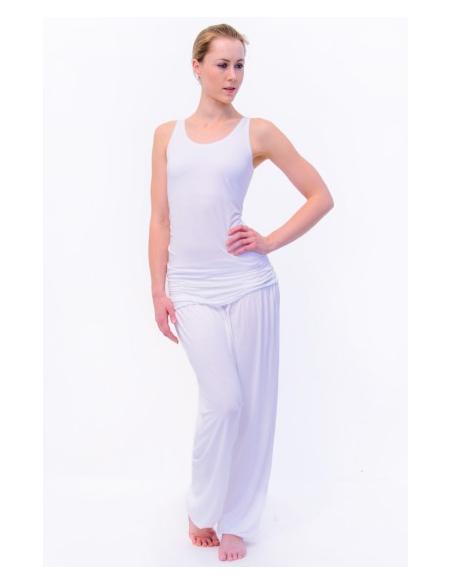 Pantalon large blanc fluide
