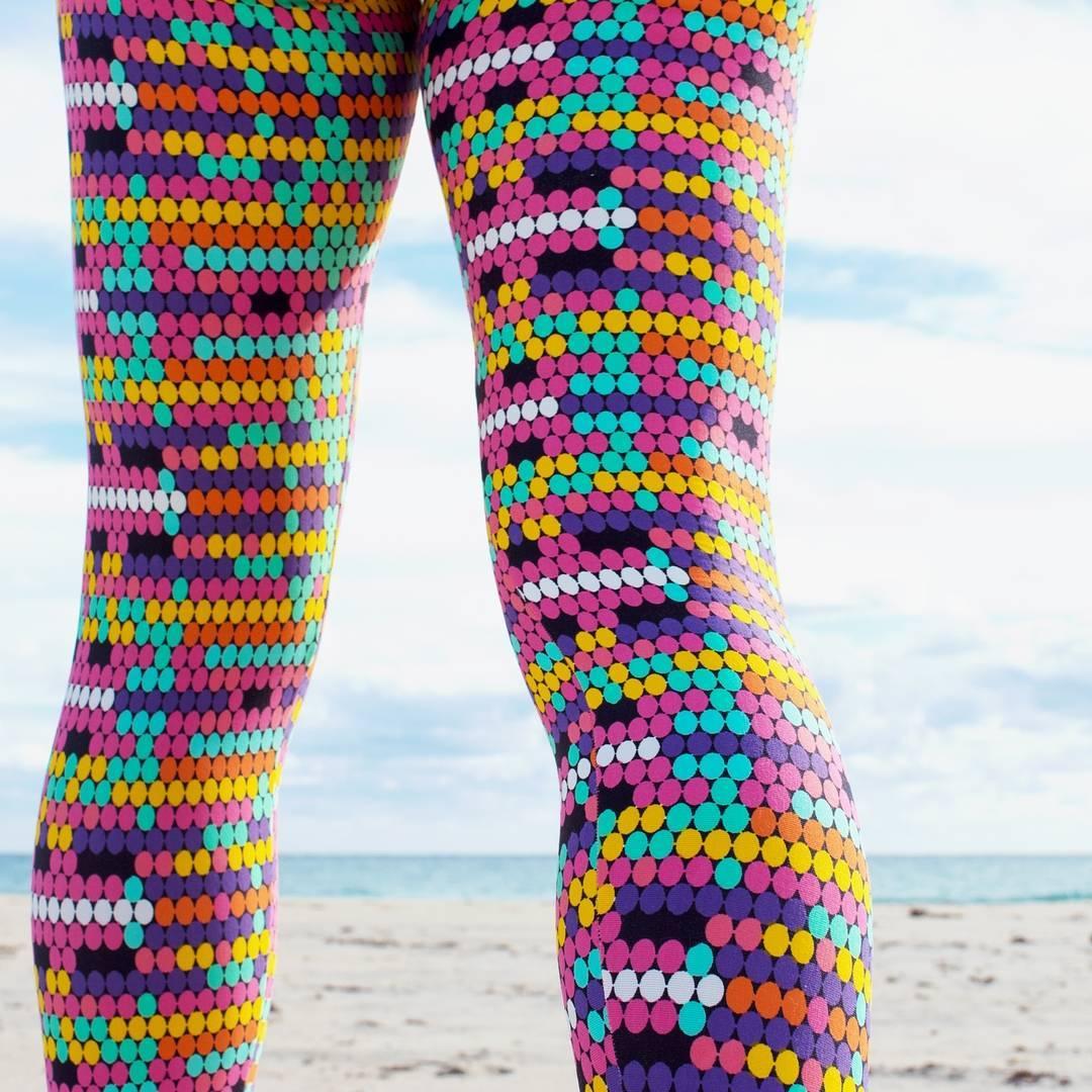 Legging yoga lumineux et coloré